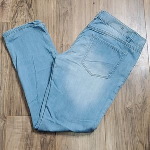 CAbi Blue Brett Boyfriend Distressed Jeans